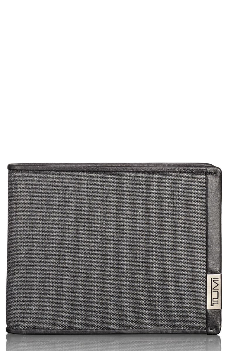 TUMI Alpha Global Wallet, Main, color, ANTHRACITE/ BLACK