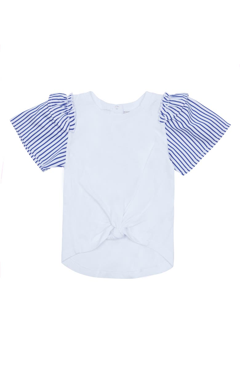 HABITUAL Kids Samantha Stripe Sleeve Top, Main, color, 100