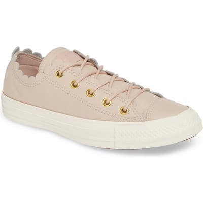 Converse Chuck Taylor All Star Scallop Low Top Leather Sneaker- Pink