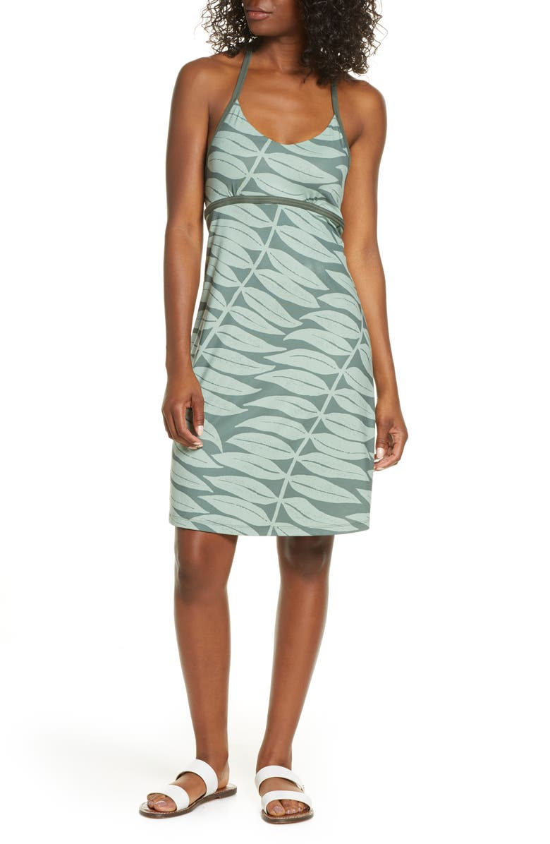 PATAGONIA Sundown Sally A-Line Jersey Dress, Main, color, LIGHT KALE GREEN