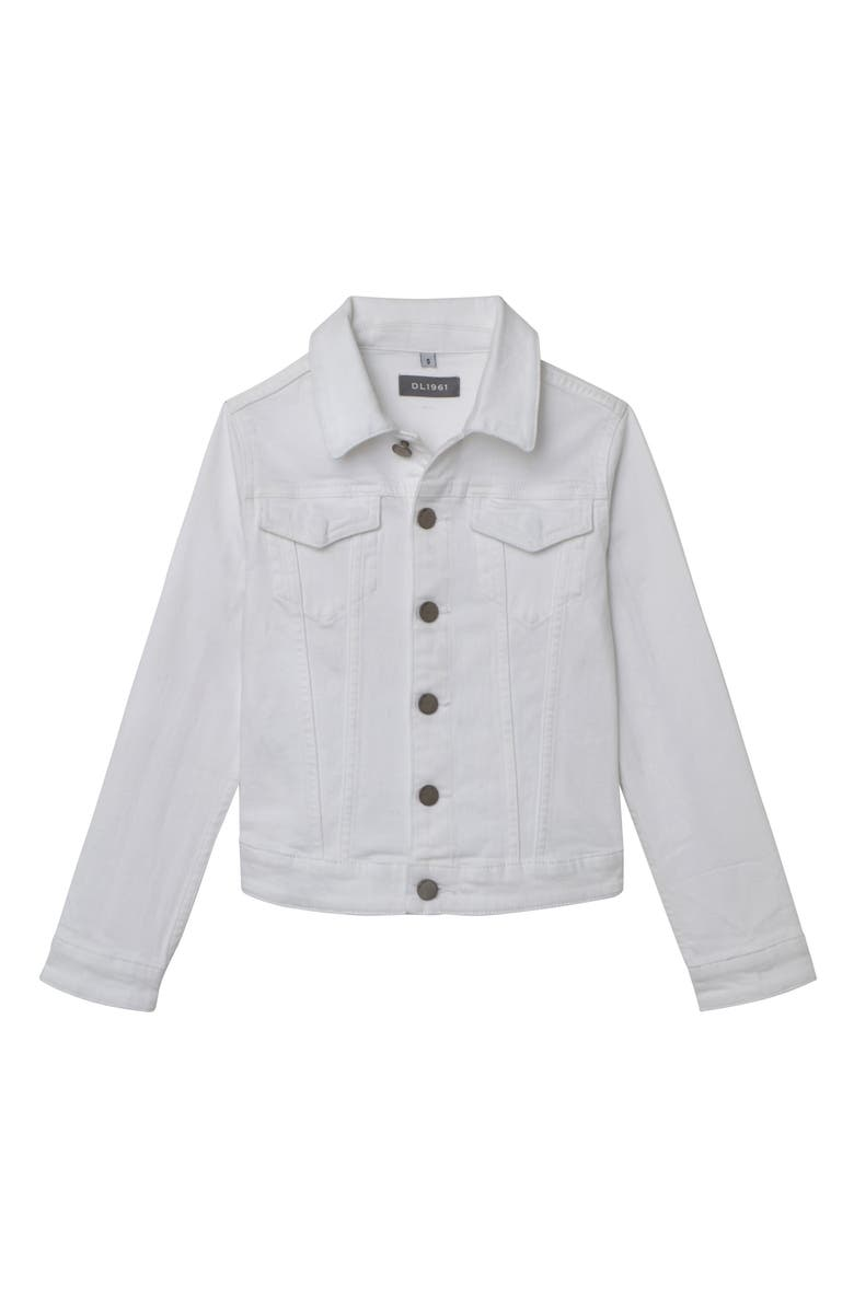 DL1961 White Denim Jacket, Main, color, 100