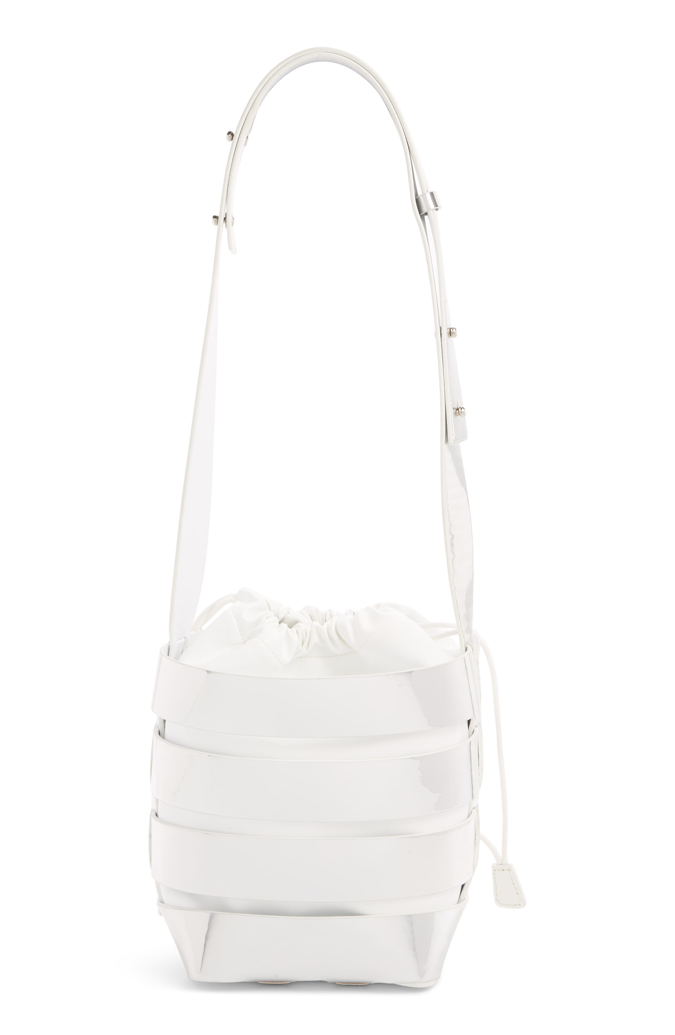 ,                             Metallic Mirror Cage Faux Leather Hobo Bag,                             Alternate thumbnail 2, color,                             SILVER