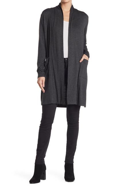 Image of Love by Design Princeton Open Front Pocket Long Cardigan