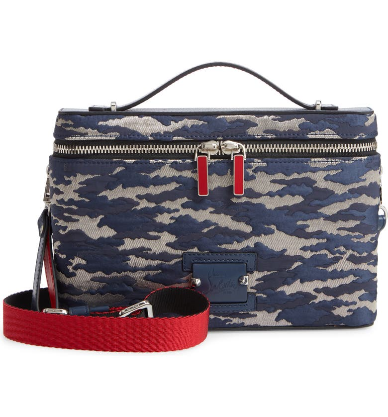 CHRISTIAN LOUBOUTIN Kypipouch Jacquard Crossbody Bag, Main, color, BAVAROIS