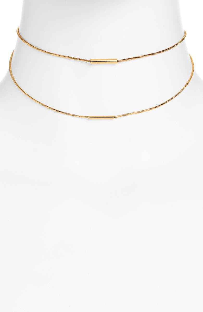 UNCOMMON JAMES BY KRISTIN CAVALLARI Tennessee Multistrand Necklace, Main, color, GOLD