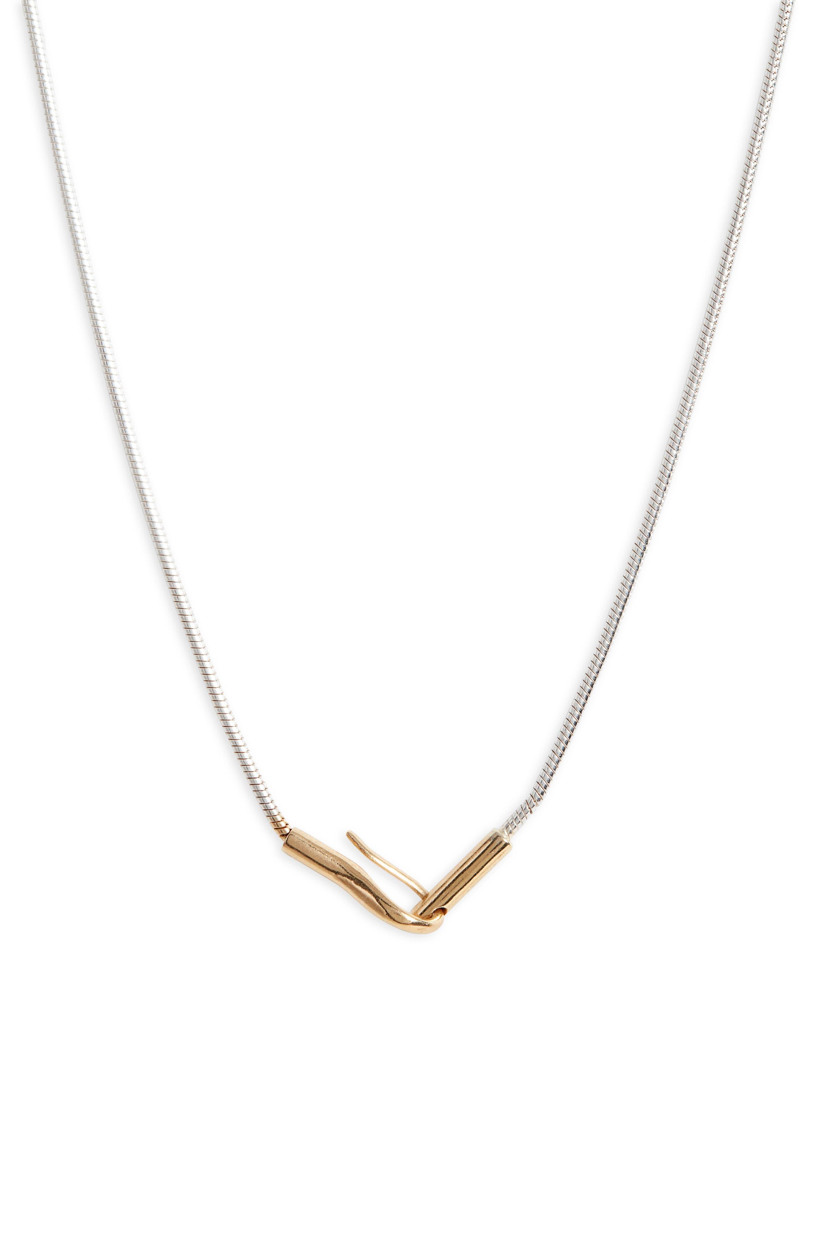 Hook Pendant Necklace