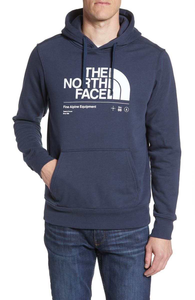 THE NORTH FACE Half Dome Hoodie, Main, color, URBAN NAVY