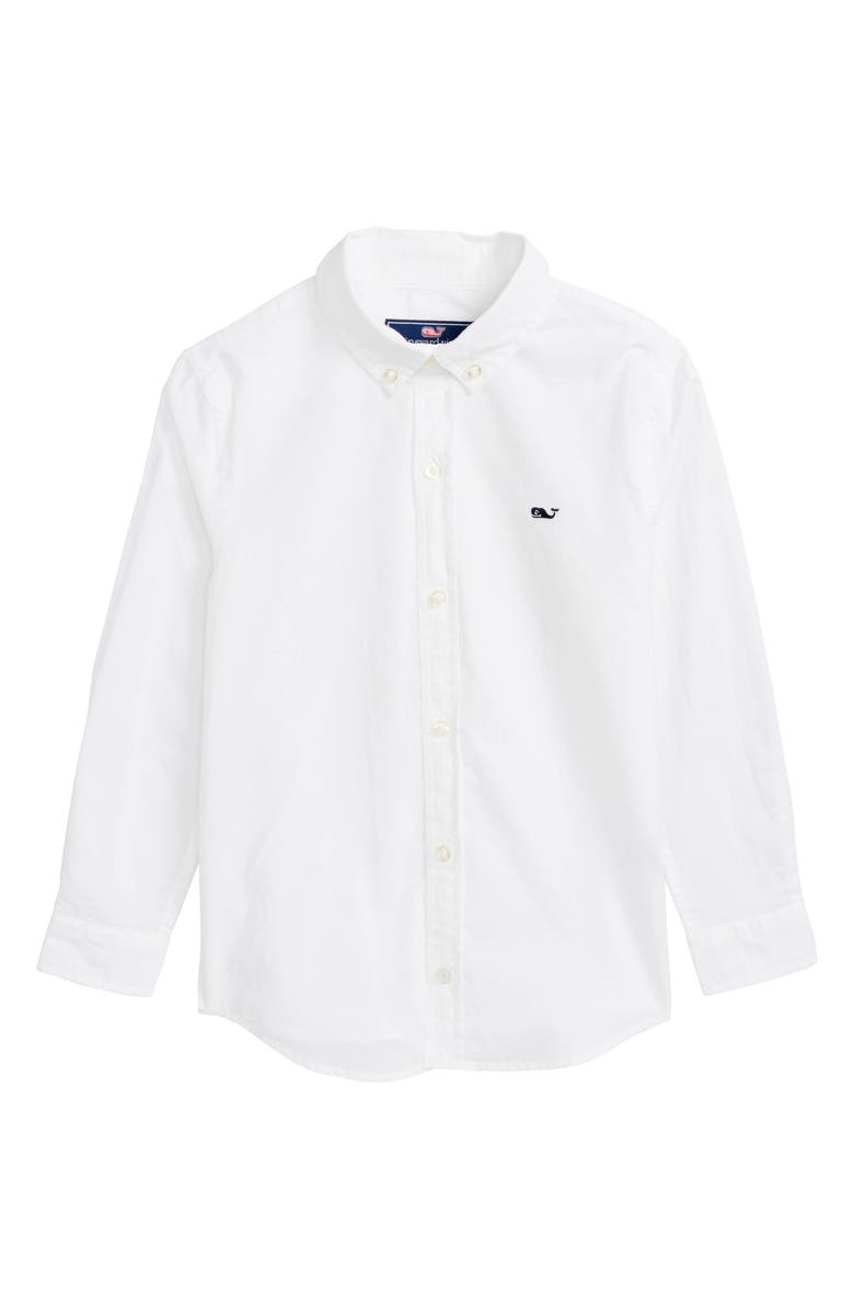 VINEYARD VINES Whale Woven Shirt, Main, color, WHITE CAP
