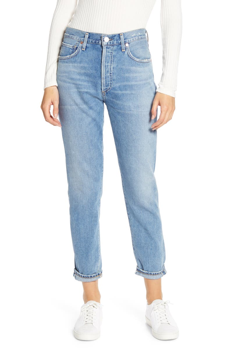 CITIZENS OF HUMANITY Citizen of Humanity Liya High Waist Slim Leg Jeans, Main, color, WILD SIDE