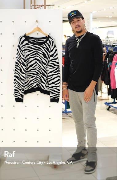 Zebra Stripe Crewneck Pullover, sales video thumbnail