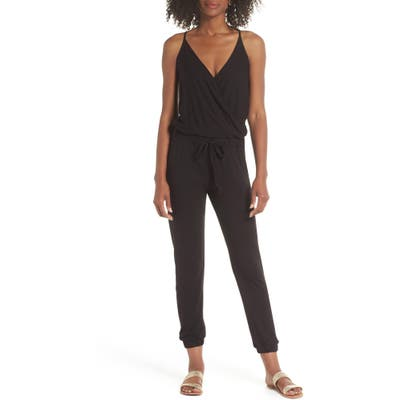 Elan Surplice Cover-Up Jumpsuit