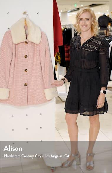 Eloise Check Coat with Faux Fur Trim, sales video thumbnail