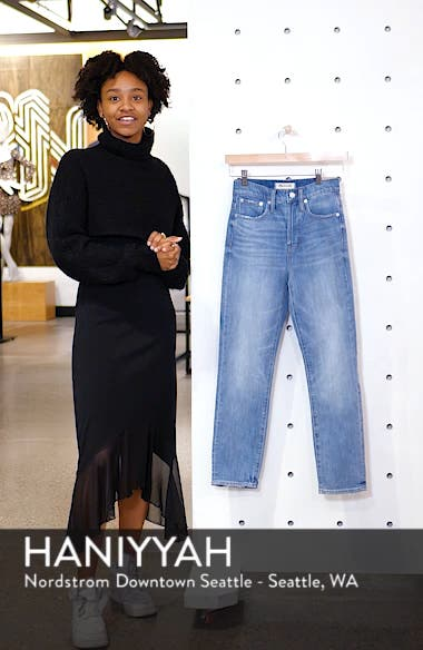 The Perfect Vintage Heart Patch High Waist Jeans, sales video thumbnail