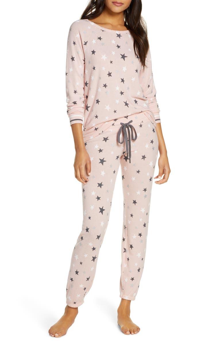 PJ SALVAGE Just Peachy Pajamas, Main, color, BLUSH