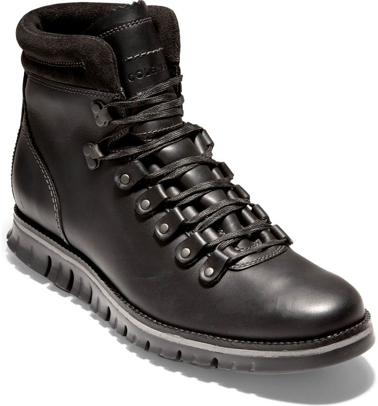 COLE HAAN ZerøGrand Waterproof Boot, Main, color, WP BLACK LEATHER/ BLACK