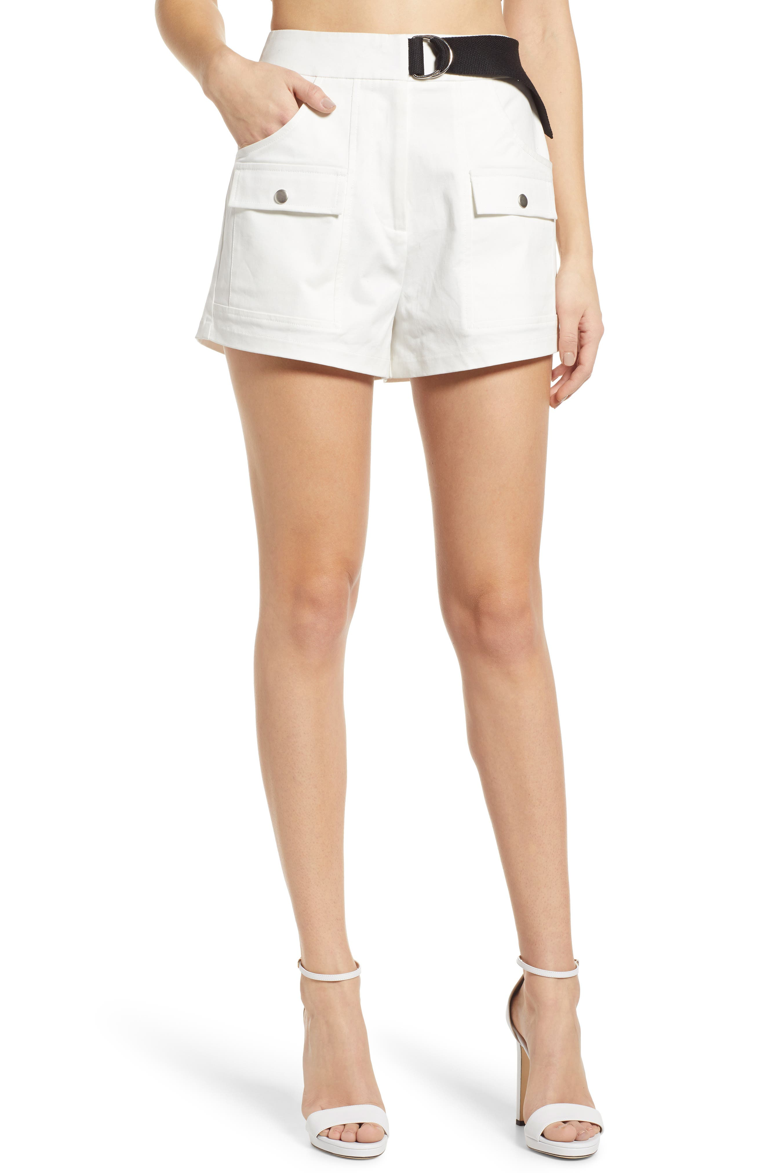 Tiger Mist Aliyah Cargo Shorts, White