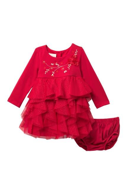 Image of BISCOTTI Ruffled Glitter Dress