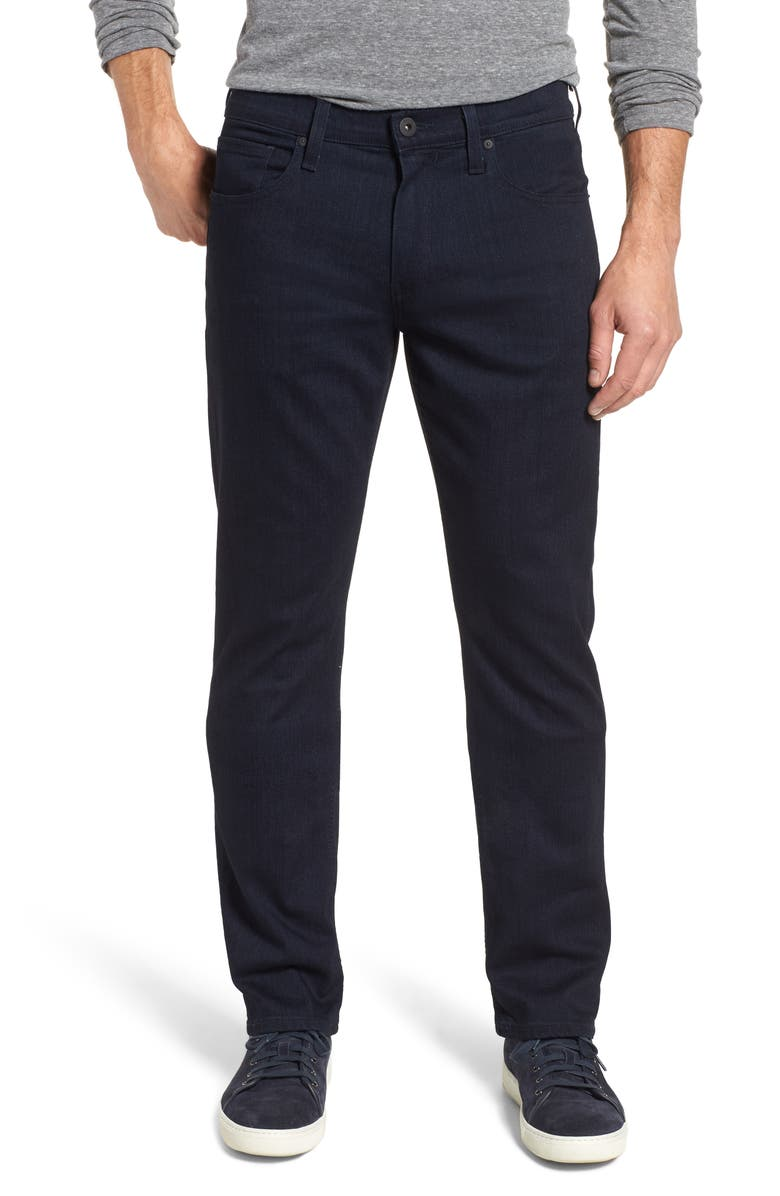 PAIGE Transcend Normandie Straight Leg Jeans Inkwell