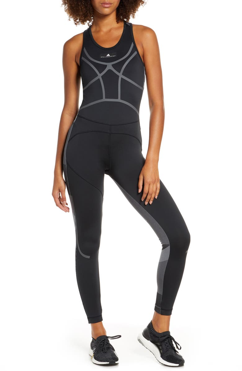 ADIDAS BY STELLA MCCARTNEY Climalite<sup>®</sup> Training All-In-One, Main, color, BLACK