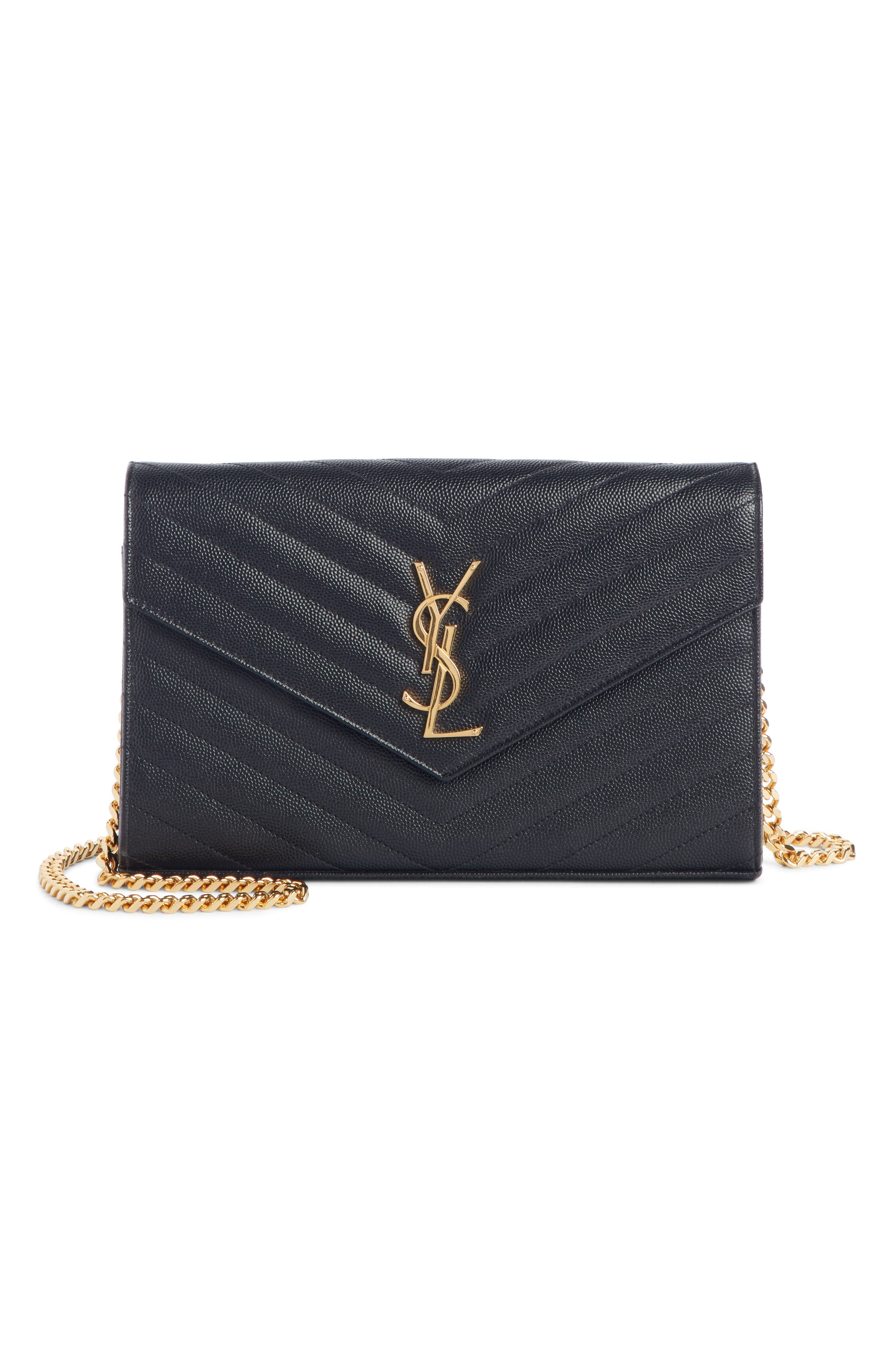 ,                             Large Monogram Quilted Leather Wallet on a Chain,                             Alternate thumbnail 2, color,                             NOIR