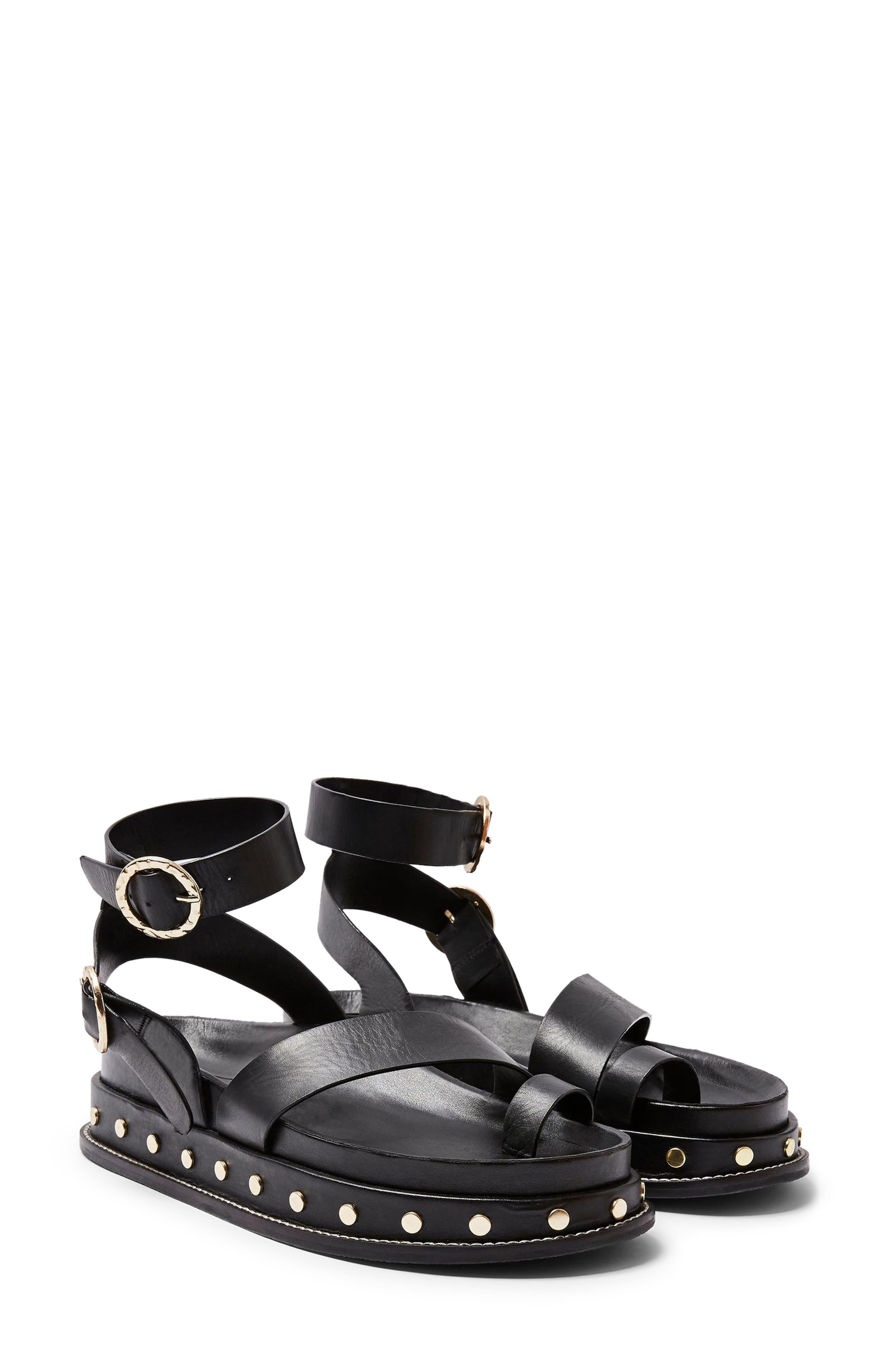 Topshop Fawn Studded Platform Sandal