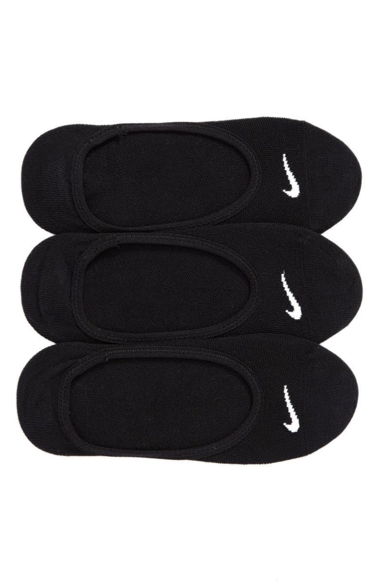 NIKE 3-Pack No-Show Socks, Main, color, BLACK/ WHITE