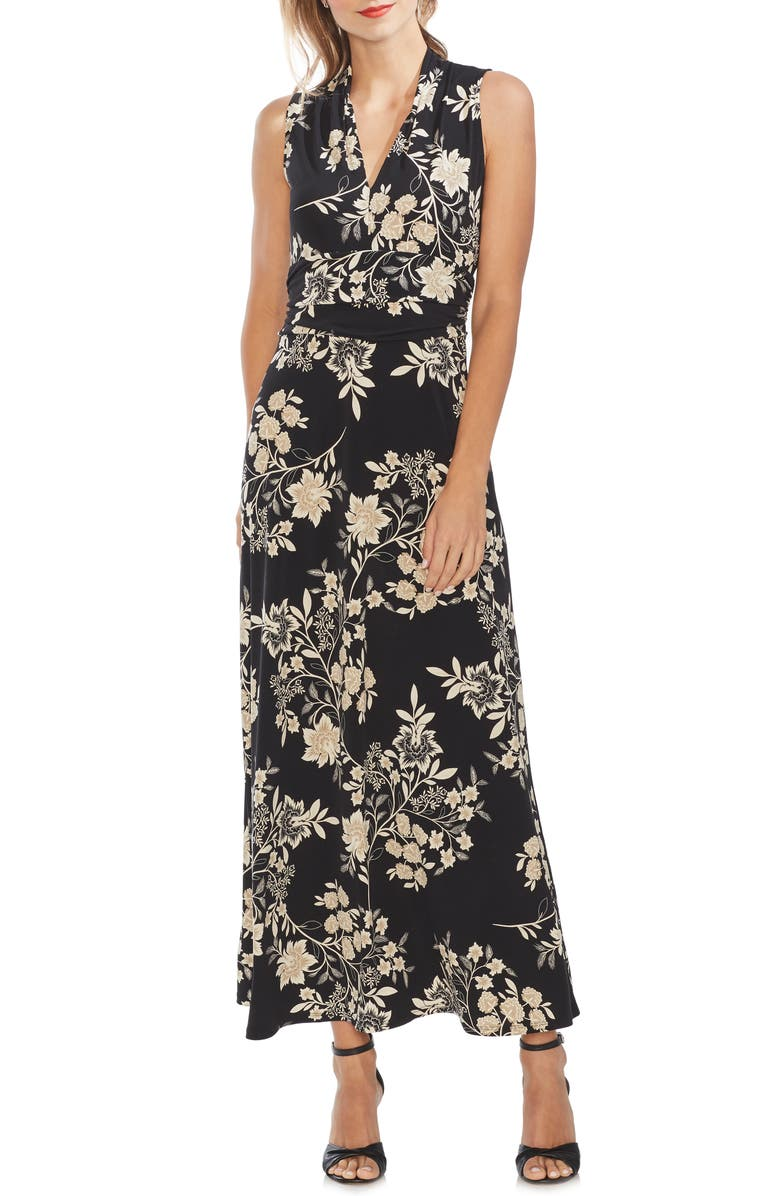 VINCE CAMUTO Floral Getaway Maxi Dress, Main, color, 006