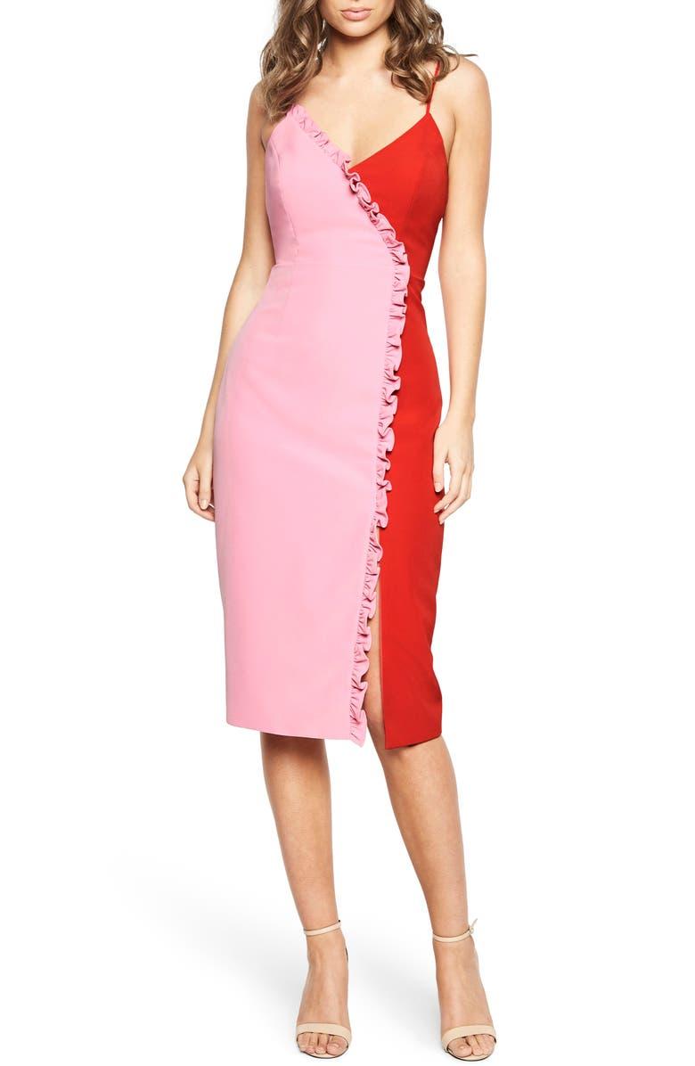 BARDOT Sherbert Bomb Midi Dress, Main, color, 650