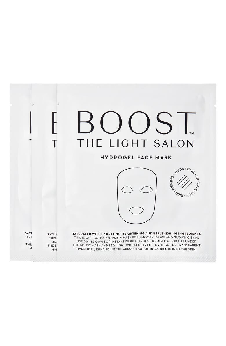 THE LIGHT SALON Boost Hydrogel Face Mask, Main, color, NO COLOR