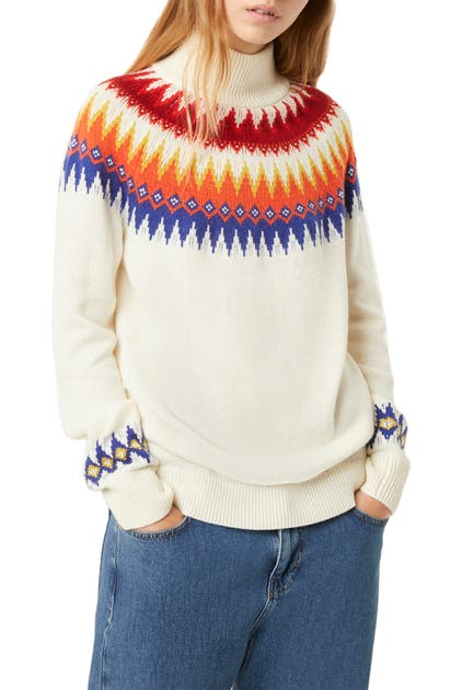 French Connection Sweaters RIVER VHARI COLORBLOCK TURTLENECK SWEATER