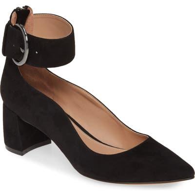 Linea Paolo Corwyn Ankle Strap Pump- Black