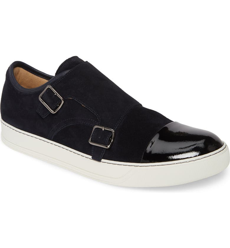LANVIN Monk Strap Sneaker, Main, color, DARK BLUE