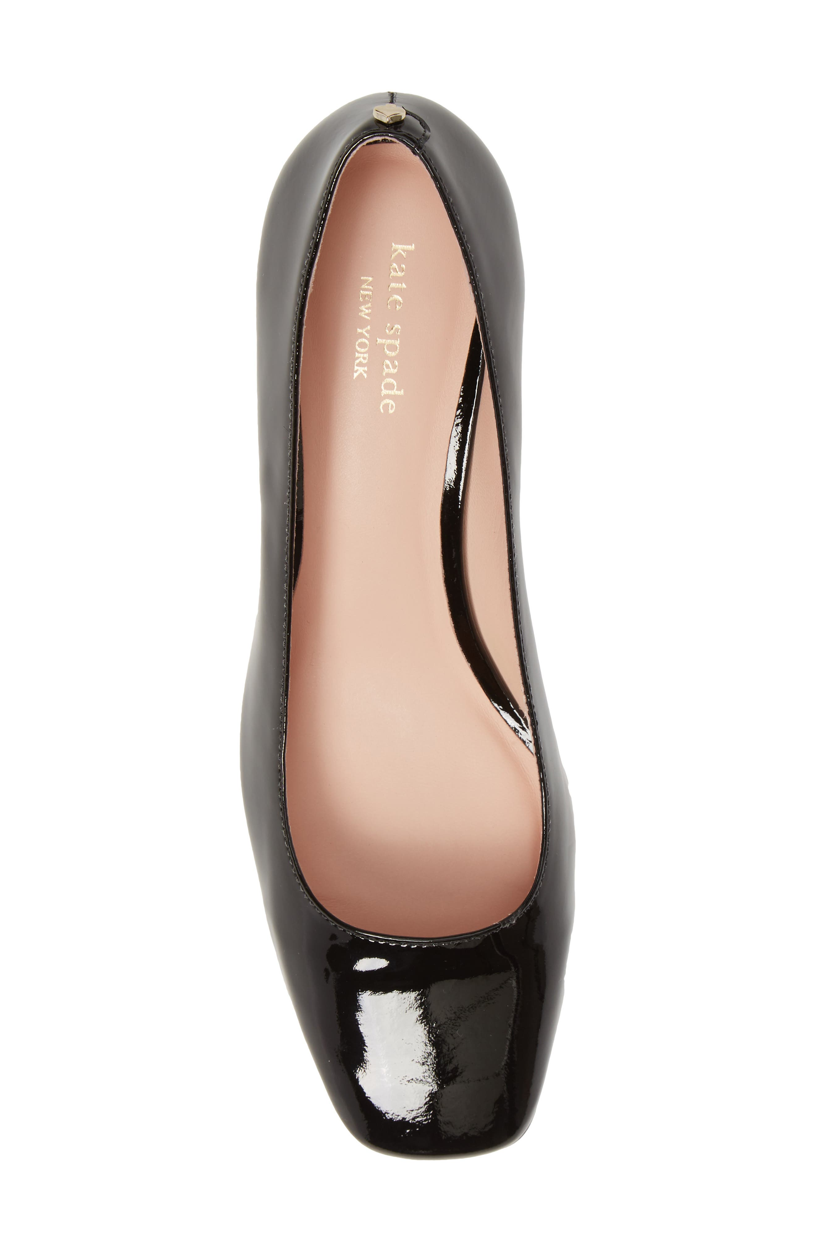 ,                             kylah block heel pump,                             Alternate thumbnail 5, color,                             BLACK PATENT
