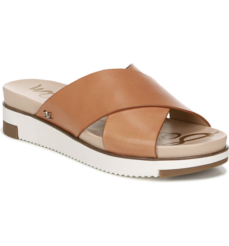 SAM EDELMAN Audrea Slide Sandal, Main, color, NATURAL BUFF