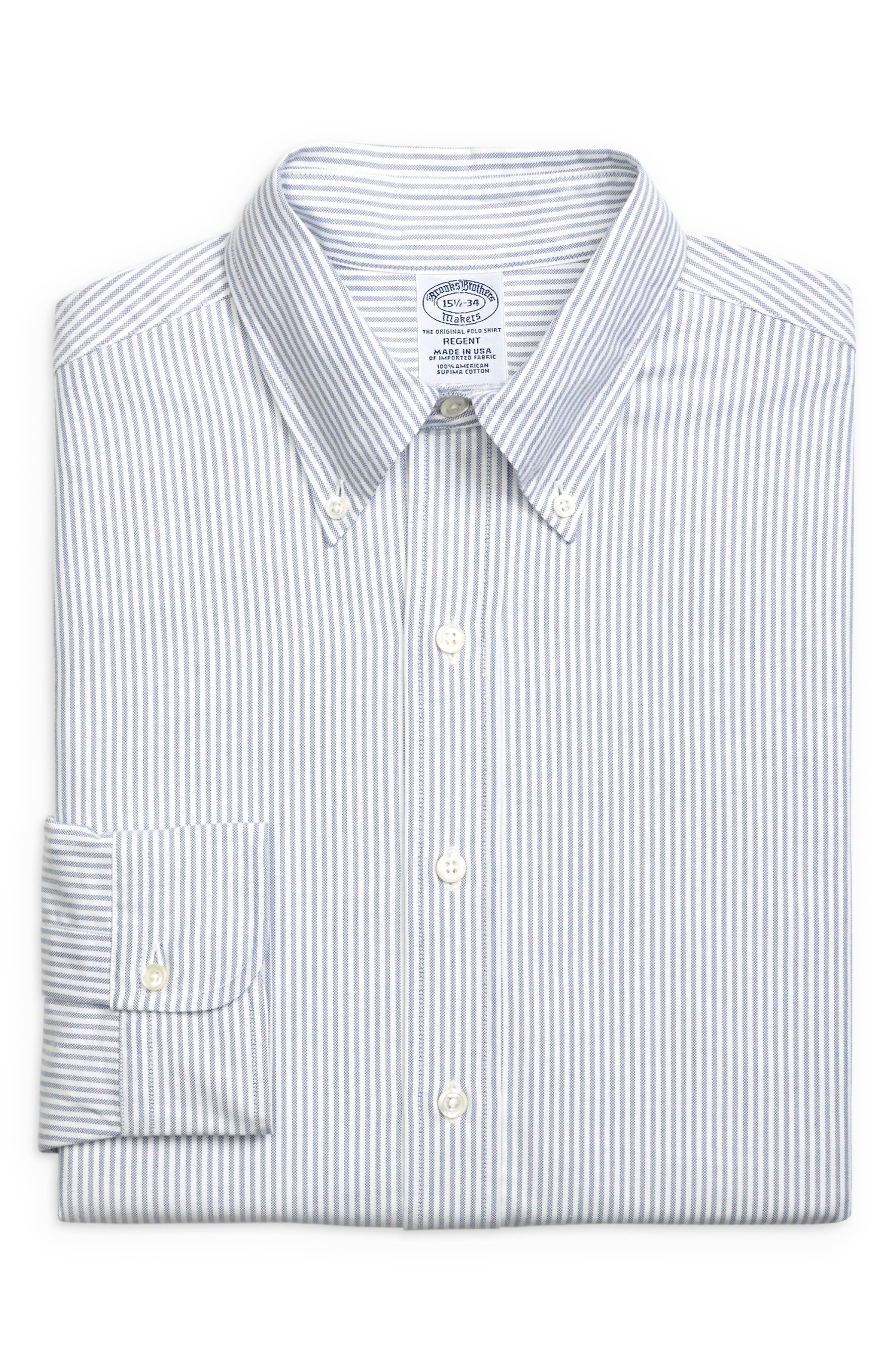 Regent Regular Fit Stripe Dress Shirt