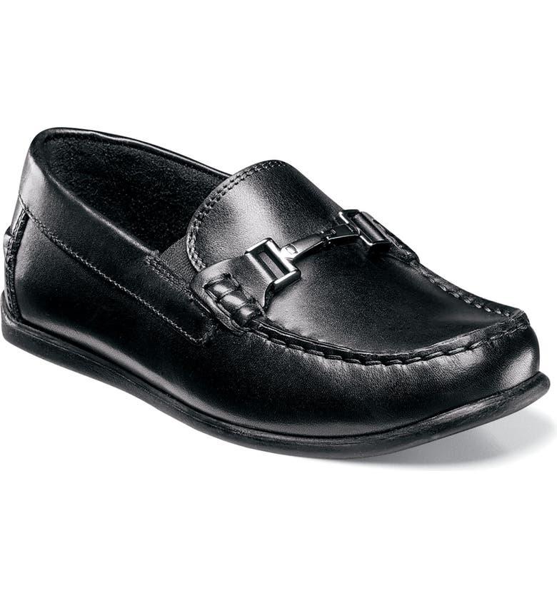 FLORSHEIM Jasper Bit Jr Loafer, Main, color, BLACK