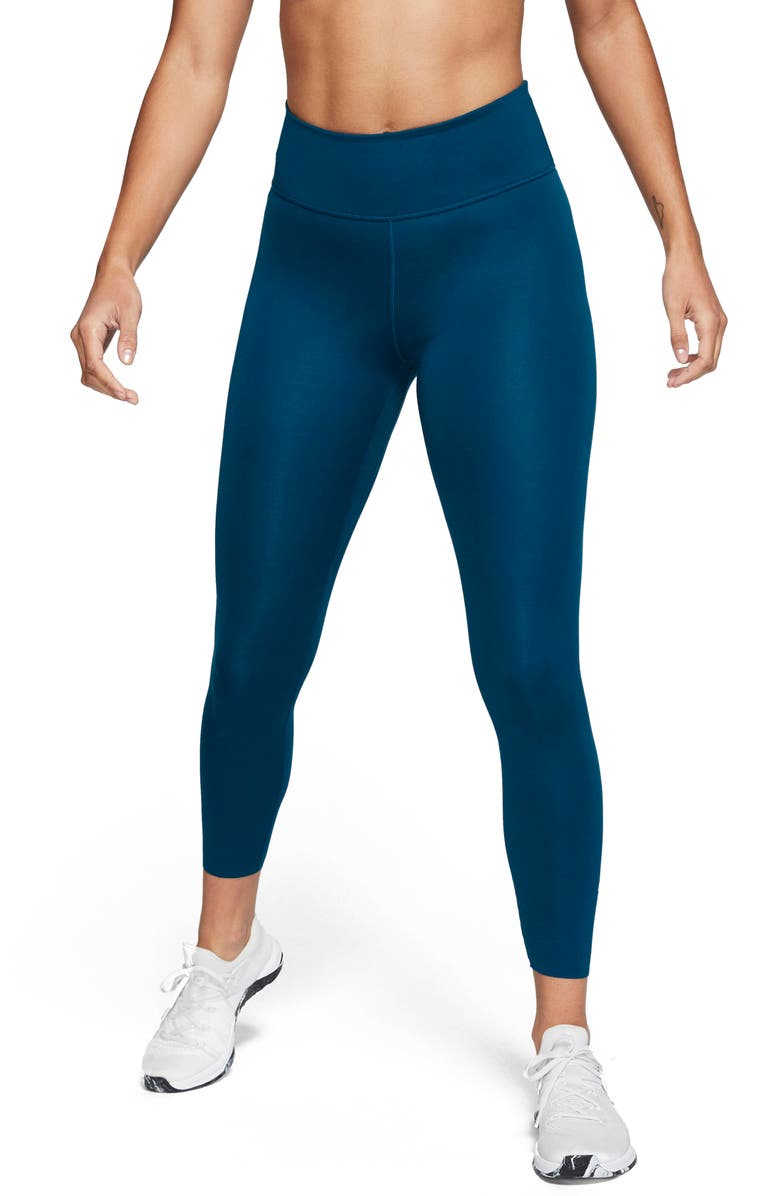 NIKE One Lux 7/8 Tights, Main, color, VALERIAN BLUE/ CLEAR