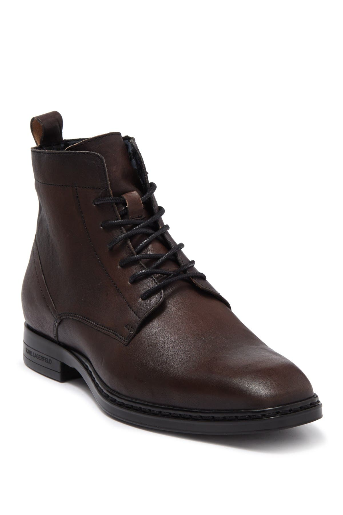 Image of Karl Lagerfeld Paris Burnished Leather Boot