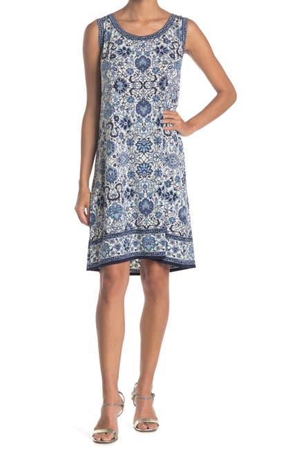 Image of CeCe by Cynthia Steffe Alexis One-Shoulder Foil Sheath Dress