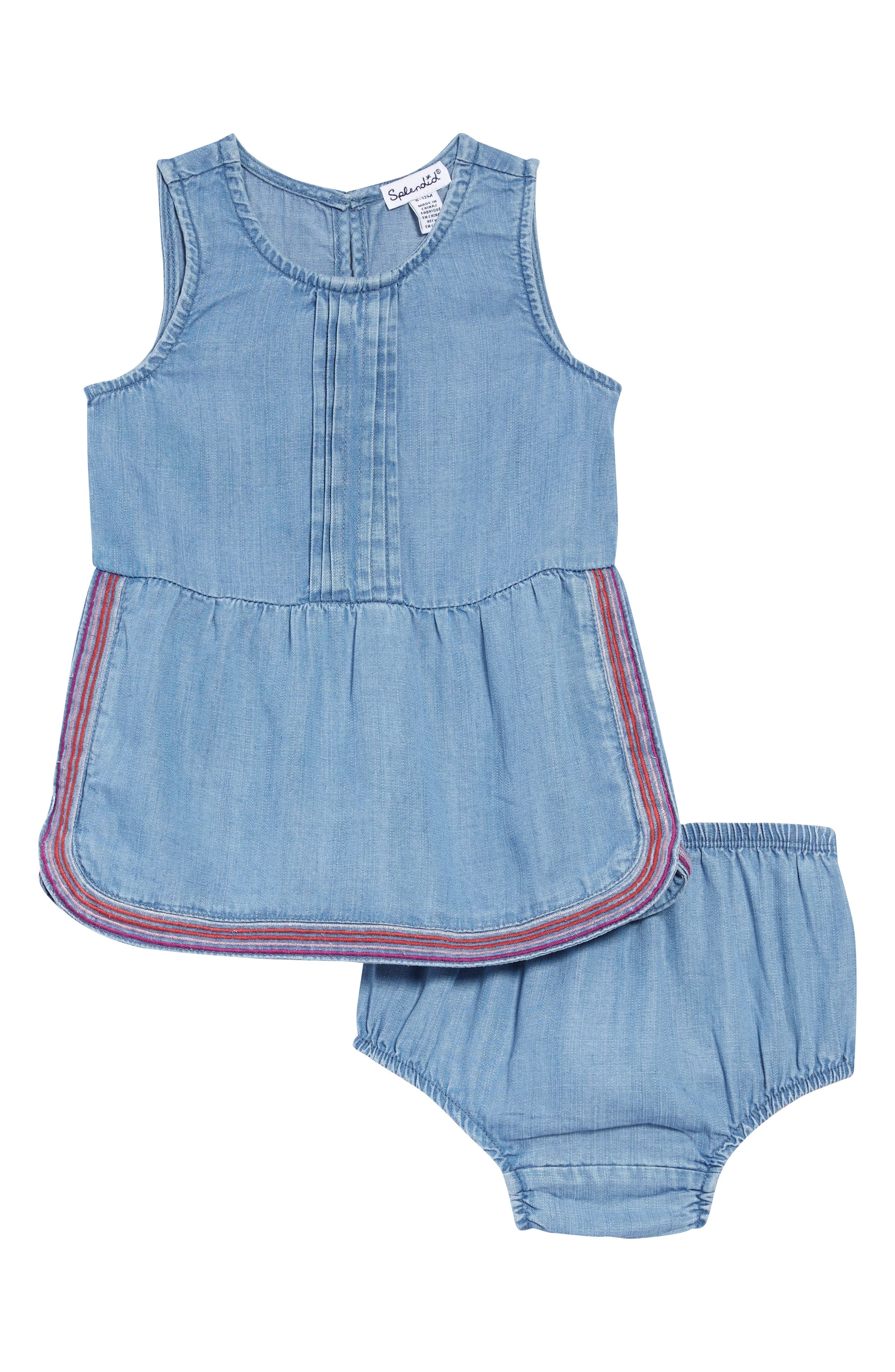 Image of Splendid Embroidered Chambray Dress