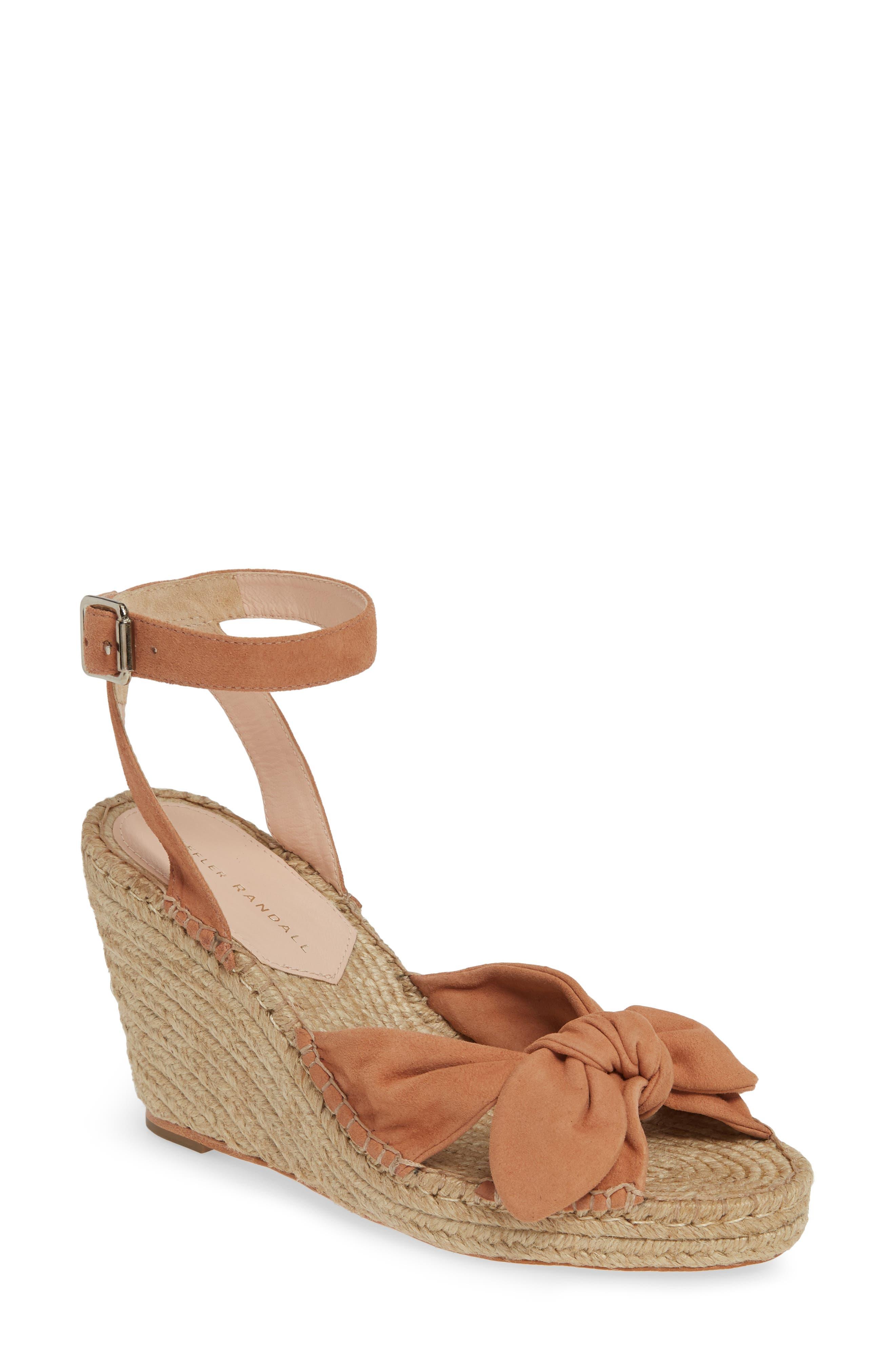 Tessa Espadrille Wedge Sandal, Main, color, COQUILLE
