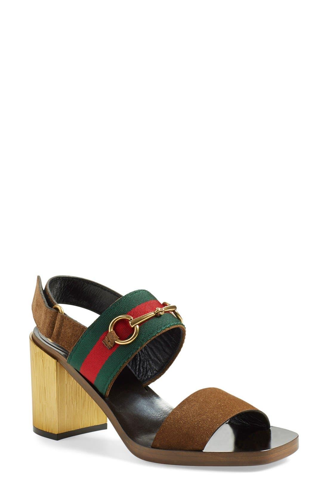 'Querelle' Horsebit Slingback Sandal, Main, color, 250