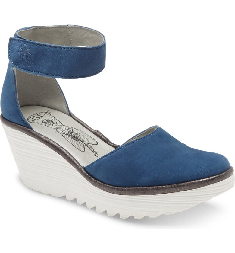 FLY LONDON Yand Wedge Pump, Main, color, BLUE CUPIDO LEATHER