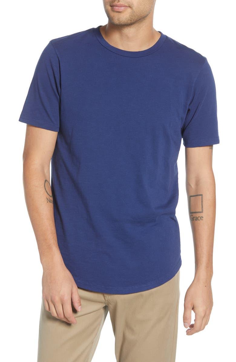 GOODLIFE Scallop Slub Crewneck T-Shirt, Main, color, GOODLIFE NAVY