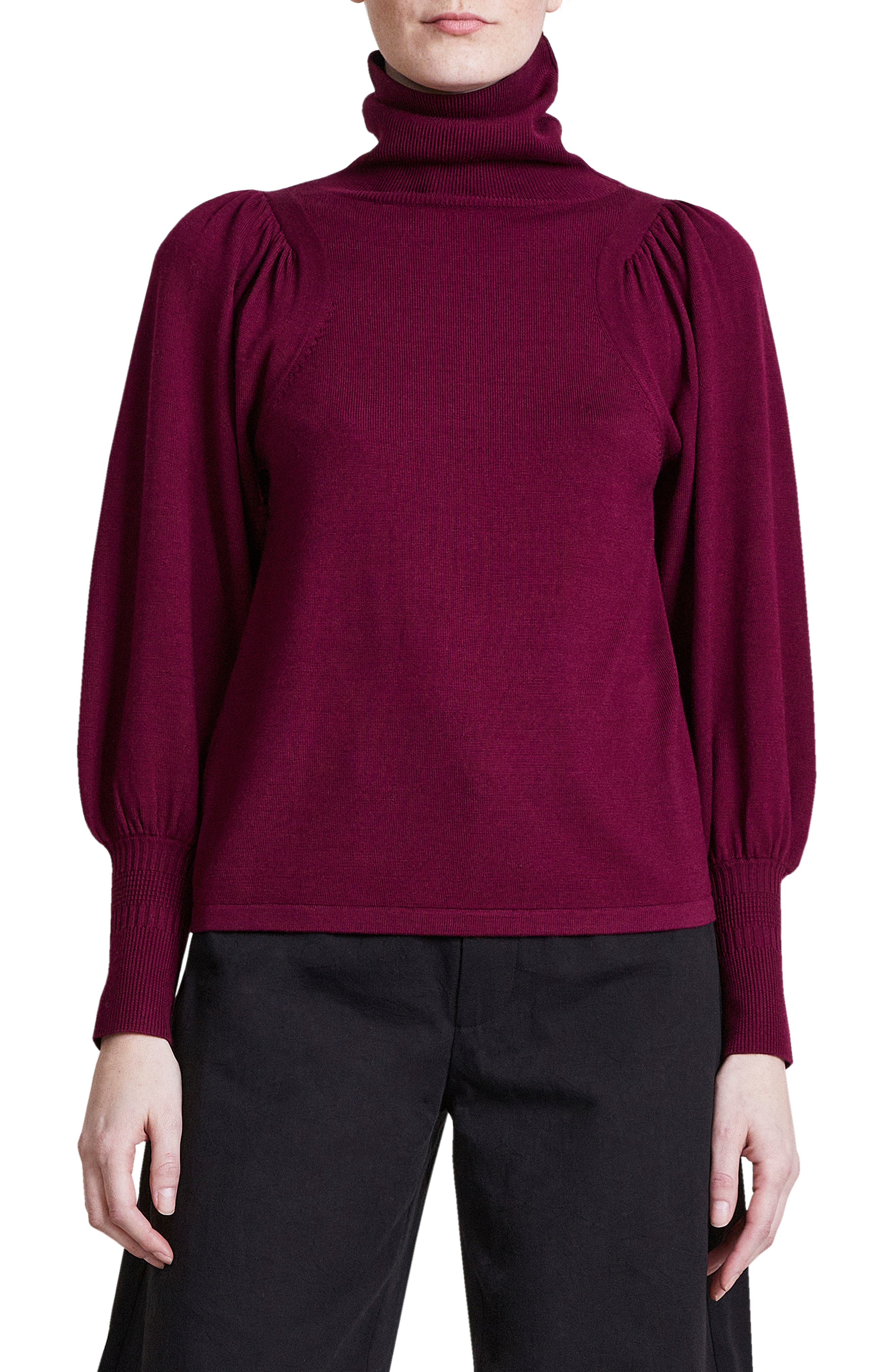 Dewi Wool Blend Turtleneck Sweater
