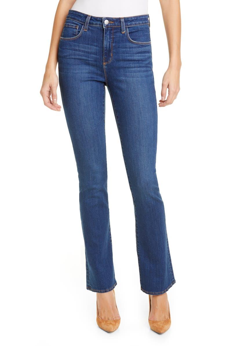 L'AGENCE Oriana Straight Leg Jeans, Main, color, LAGUNA