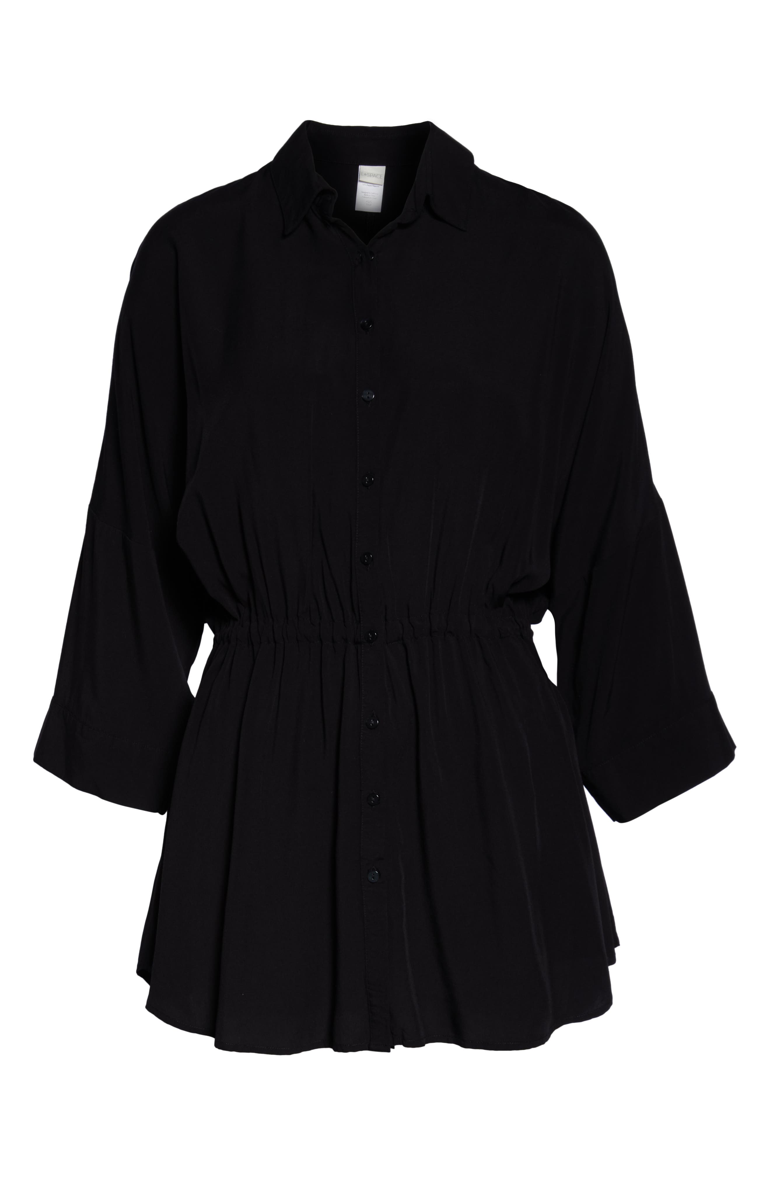 ,                             Pacifica Cover-Up Tunic,                             Alternate thumbnail 5, color,                             BLACK