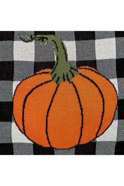 Image of Parkland Collection Pumpyking Transitional Orange Throw Pillow