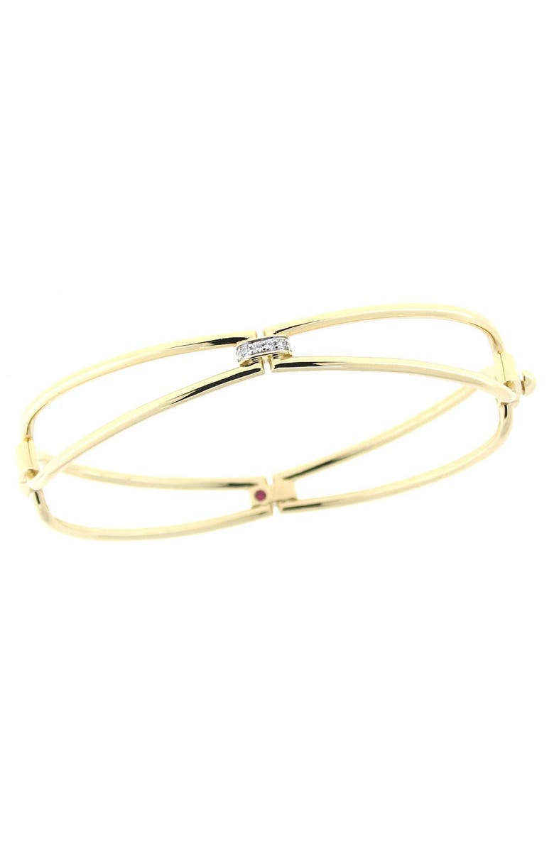 ROBERTO COIN New Gold Classic Diamond Bangle Bracelet, Main, color, 710