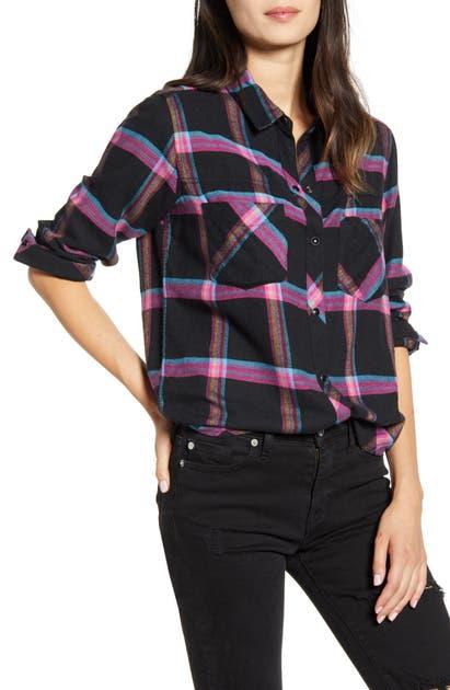 Rails T-shirts LEO PLAID FLANNEL SHIRT